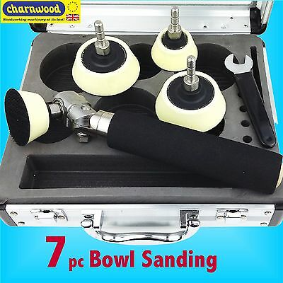 Charnwood BS10 Bowl Sanding Finishing Kit sander disc lathe tool carving