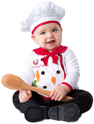 Baby Boys Girls Head Chef World Book Day Fancy Dress Costume Outfit 6-24 months