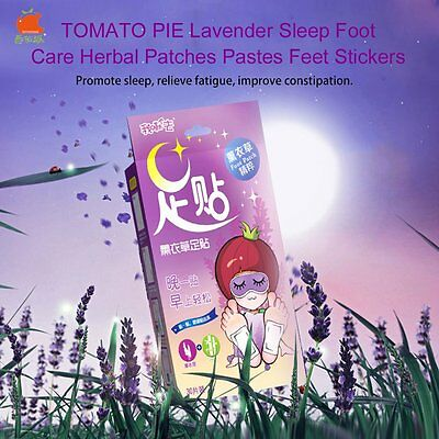 TOMATO PIE Lavender Sleep Foot Care Herbal Patches Pastes Feet Stickers HT