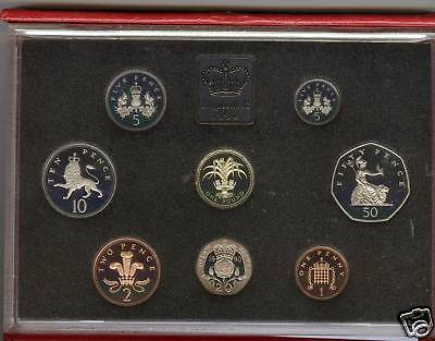 1990 Deluxe Red Proof Set Of 8 Coins