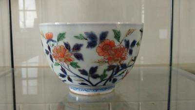 Beauiful Chinese Kangxi Period Porcelain Famille Verte Enamelled Floral Bowl