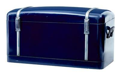1950's DOME TOP METAL LUGGAGE TRUNK CHEST
