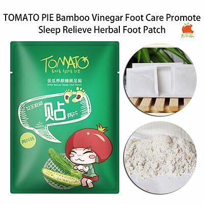 TOMATO PIE Balsam Pear Massage Sleep Foot Care Herbal Patches Detox Pads HT