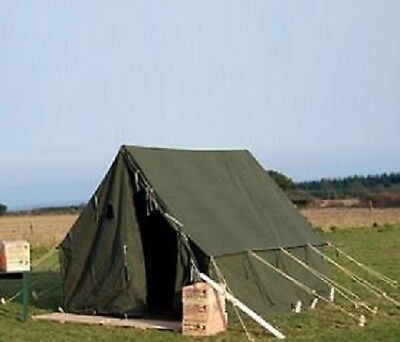 US Army WK2 WWII ARMEEZELT Military Canvas SMALL WALL TENT (Repro) OLIV