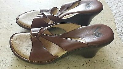 SOFFT Womens Sandals SHOES Size 8 1/2 M BROWN  LEATHER EXCELLENT