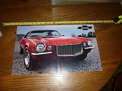 """1970  Chevrolet 71 Camaro Sport Coupe with SS equipment ~ POSTER 17.5"""" x 11"""""""