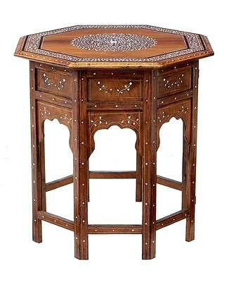 Late 19Th Century Damascan Inlaid Octagonal Table