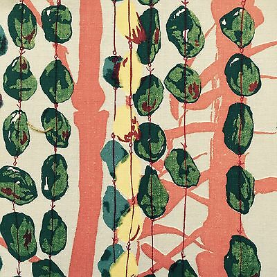 vtg 50's bamboo fabric Liberty Lucienne Day Heals Atomic era retro mid-century