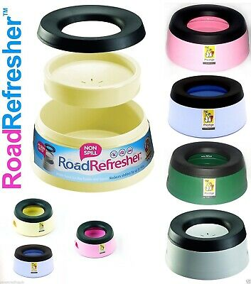 Road Refresher Non Spill Dog/Puppy Travel Prestige Water Bowl. Small And Large