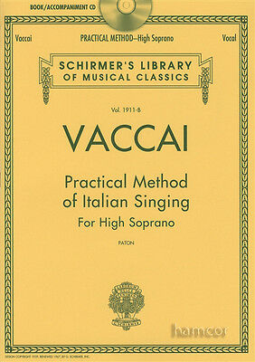 Vaccai Practical Method of Italian Singing for High Soprano Vocal Music Book/CD