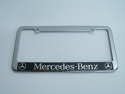 - MERCEDES-BENZ HALO -stainless steel license plate frame + FREE 2 CAPS