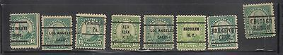 """£1.49  -A group of """"UNITED STATES"""" 13c HARRISON PRE-CANCELS (1925)"""