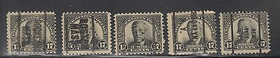 """£1.49  -A group of """"UNITED STATES"""" 17c WILSON PRE-CANCELS (1925)"""