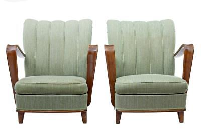 PAIR OF 1960's SCANDINAVIAN BIRCH MODERN ARMCHAIRS