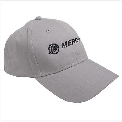 """Mercury Marine Outboards """"Go Boldly"""" Structured Grey Twill Hat Cap"""