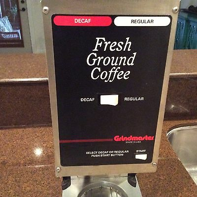 Grindmaster 250 Dual Hopper Commercial Coffee Grinder-Works Well