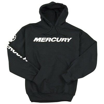 Mercury Marine Outboards Logo 9.5 oz Hooded Black Sweatshirt