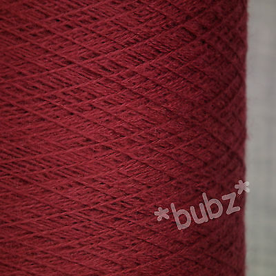 Zegna Baruffa Cashwool Pure Wool 2/30 Oxblood Red Laceweight Cobweb Yarn 1 2 Ply