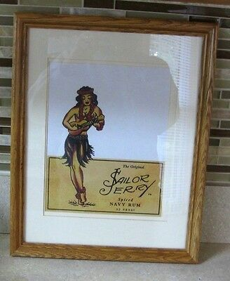 Print  Hula girl SAILOR JERRY rum logo