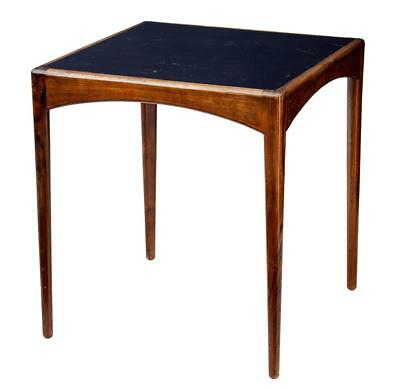 1950's DANISH ROSEWOOD LEATHER TOP SIDE TABLE