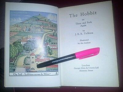 The Hobbit~Tolkien~1959 ed rare 11th~Illustrated by Tolkien~Pub, George Allen