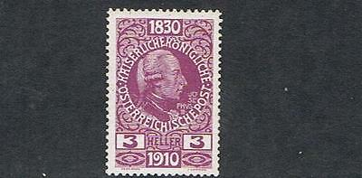 STAMPS   from  AUSTRIA  1910  FRANCIS JOSEPH  3 Heller  (MINT/MVLH)   lot A211