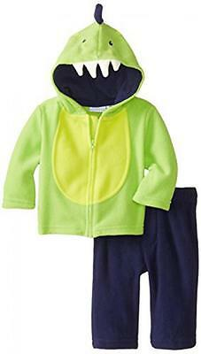 Kids Headquarters Baby-Boys Newborn Jacket with Navy Pants, Green, 3/6 Months