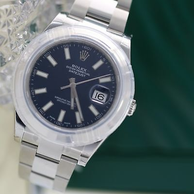 New Rolex Datejust II Watch 116300 41mm Stainless Steel Blue Dial w/ Luminous