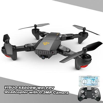 NEW VISUO XS809W Wifi 0.3MP Camera Foldable 2.4Ghz 6-Axis RC Quadcopter RTF Toys
