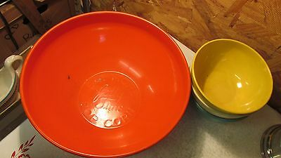 Antique Jolly Time Popcorn Bowl Set Fiesta Colors