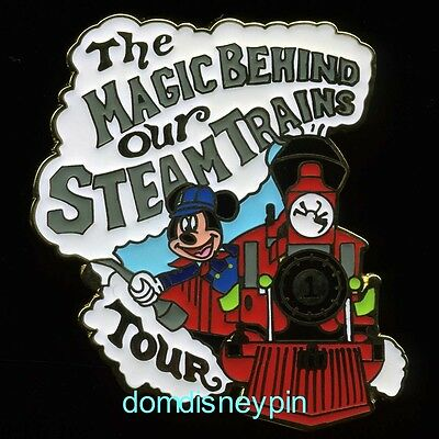 Disney Pin WDW *The Magic Behind Our Steam Trains Tour* Gift (Engineer Mickey)!
