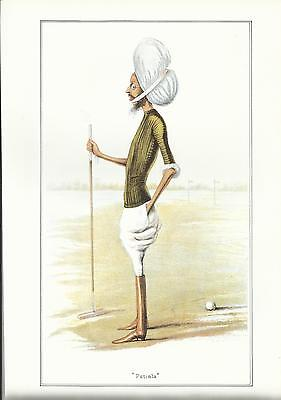 Vanity Fair CRICKET print - HH THE MAHARAJA OF PATIALA, GCSI