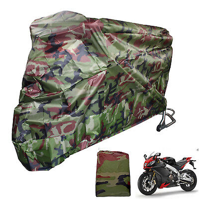 Camouflage L Waterproof UV Outdoor Motorcycle Motorbike Bike Scooter Cover