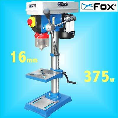 FOX F12-941A 12 Speed Bench Pillar Drill 240v table press 16mm Chuck 3Yr Warrnty