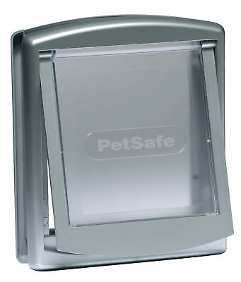 Petsafe Staywell Original 2 Way Door Silver Finish Cat Dog Small Transparent Lid