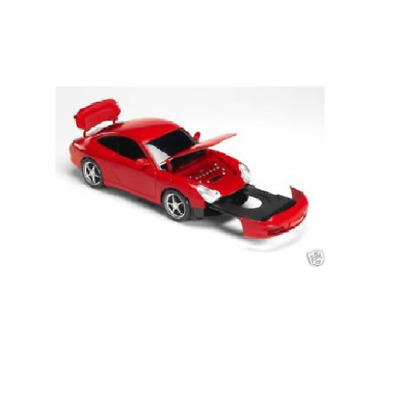 "Steepletone ""Porsche"" Red CD-Radio c/w USB port and Lit headlights CD Player Red"