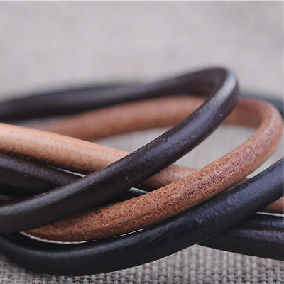 100cm Round Leather Cord Lace Deck Boots Jewelry Thong Dia 1.5/2/2.5/3/4mm