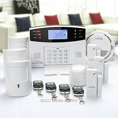 HOMSECUR Wireless&Wired GSM SMS Autodial Home Security Pet Friendly Alarm System