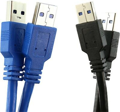 USB 3.0 A to A Cable MALE/MALE Black or Blue 1m 2m 3m 5m Superspeed