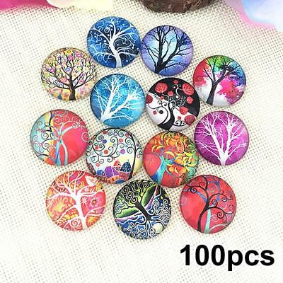 Dome Findings Glass Cabochon 100PCS Jewelry Making Accessories DIY  Flatback