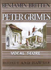 BRITTEN PETER GRIMES Vocal Score