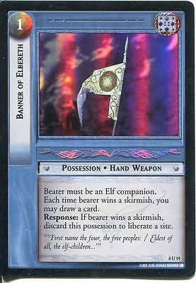 Lord Of The Rings CCG Foil Card EoF 6.U14 Banner Of Elbereth