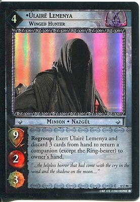 Lord Of The Rings CCG Foil Card EoF 6.U86 Ulaire Lemenya, Winged Hunter