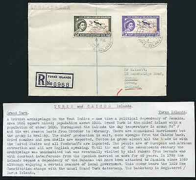 TURKS & CAICOS ISLANDS: (13454) maps/GRAND TURK cancel/cover