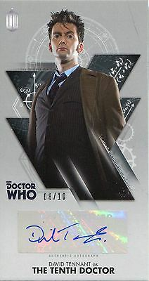 Doctor Who The Tenth Doctor WS Silver [10] Autograph Card WA-DT David Tennant