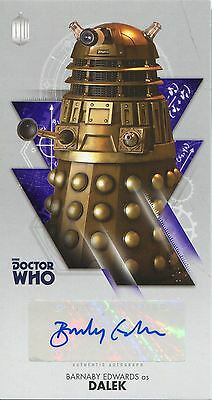 Doctor Who The Tenth Doctor WS Autograph Card WA-BE Barnaby Edwards as Dalek