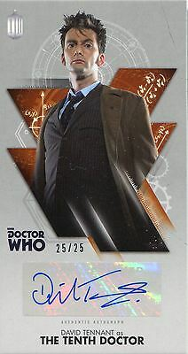 Doctor Who The Tenth Doctor WS Bronze [25] Autograph Card WA-DT David Tennant