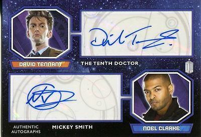 Doctor Who 2015 Dual Autograph Card David Tennant & Noel Clarke