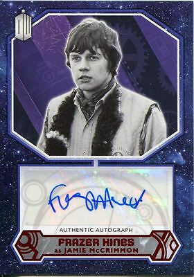Doctor Who 2015 [Red][##/10] Autograph Card Frazer Hines - Jamie McCrimmon