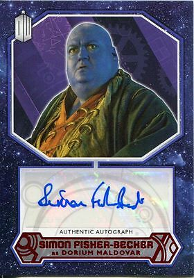 Doctor Who 2015 [Red][##/10] Autograph Card Simon Fisher-Beck - Dorium Maldover